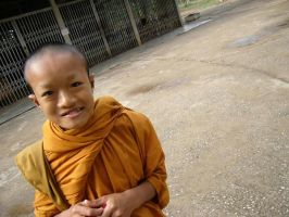 portrait of a novice monk. 2a by Tua