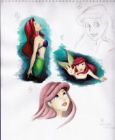 Ariel sketch page by oh-my-ja