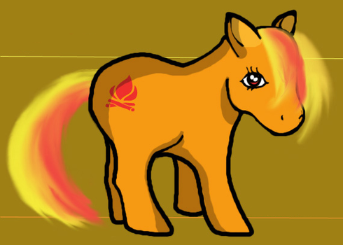 Campfire My Little Pony by airlobster