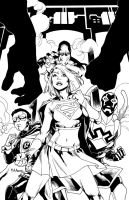 Supergirl 62 Cover BW by MahmudAsrar