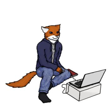 Me on my laptop color by Dorian-James-Fox