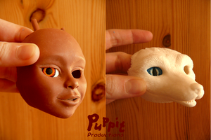W.I.P: Firefox and snowfox BJD - testing the look by PuppitProductions