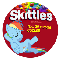 Skittles. now 20 percent cooler by MetaDragonArt