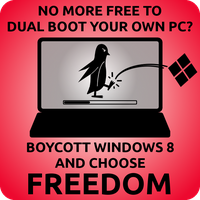 Boycott Windows 8 by LinuxBird