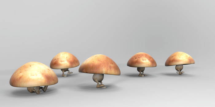 Zbrush Doodle Day 881 - Mushroom Stroll 2 by UnexpectedToy