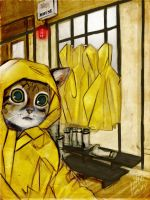 Yellow Cat Mouse trap by AndrewLaFish-Arts