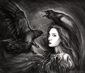 Iris And Ravens by transe