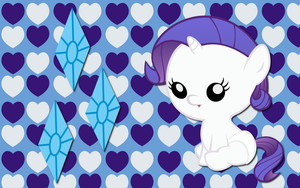 Baby Rarity WP by AliceHumanSacrifice0
