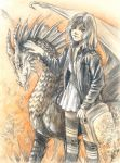 dragon and girl by Maria-Sandary