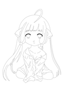 Chi chobits-lineart by MagicMoonBird