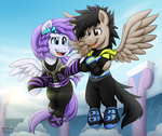 Storm Racer and Shine Racer -Commission- by BuizelCream