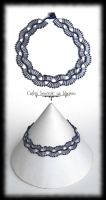 Silver waves choker by Cayca