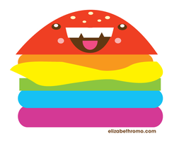 Rainbow Cheeseburger by manriquez