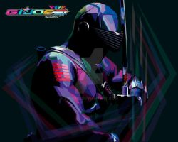 GI JOE  SNAKE EYES  IN WPAP by YUHEND