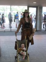 Steampunk momma and baby by Ivory-Bloodrose