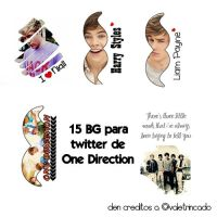PACK 15 Backgrounds para Twitter de ONE DIRECTION by Vaale-Editions
