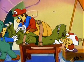 King Koopa tickled by Foot-paws