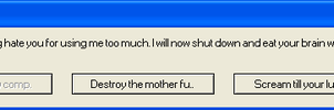 Threatening Error Message by YaoiCrazy