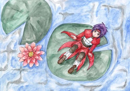 Chrono on water lily by DosadiVH
