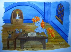 Firemane at Work by Sn0wlight
