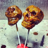 Skulls carved from corks by st8exprs