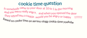 cookie time question by wolfwarrior74