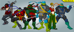 TMNT - Batman and Robins by AshleyWharfe