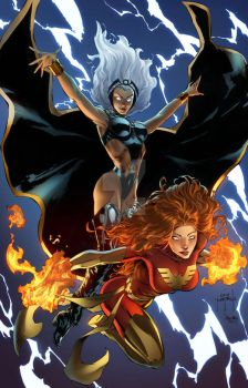Storm and Phoenix by JasonMetcalf