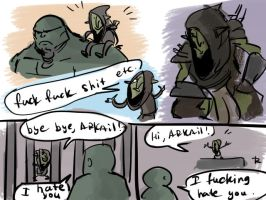 Of Orcs And Men, doodles 3 by Ayej