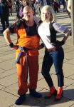 Android 18 and Krillin cosplay by KatMaz