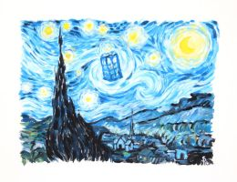 Starry Night + TARDIS by Nyotah