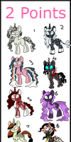 2 Point Pony Adopts by Chickfila-Chick