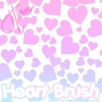 Heart Brushes by xlilbabydragonx