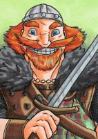 King Fergus Sketch Card by ibroussardart