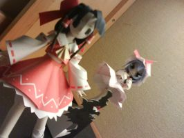 Touhou PC: remilia and reimu by solessthanthree