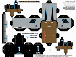 Cam Newton Panthers Cubee by etchings13