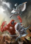 Elmo-VS-Silverhawks by Graphic--Ops