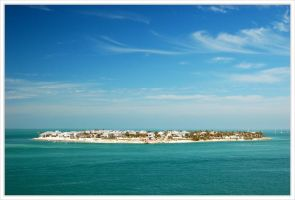 Houses off of Key West by lstolzar