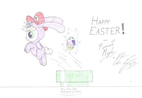 MLP:FiM - Happy Easter from Pencil Magic by MortenEng21