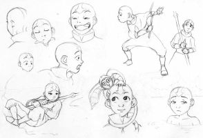 Sketches 18 - Aang 1 by Azizla