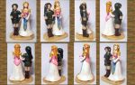 Legend of Zelda Wedding Cake Topper: multiple view by CadmiumCrab