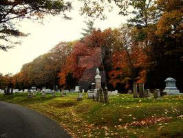 Cemetery Path by GrimFay