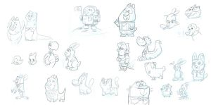 Sketches of Pets other nice People by Gilmec