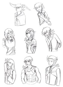 JCP: Old Personal Goal Character Sketches by aisazia