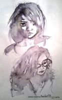 Sketchbook - Ink and Wash - People - 3 by anime-master-96