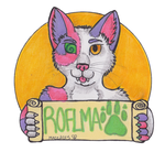 Roflmao Conbadge by TornFeathers