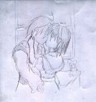 Alice and Rinnosuke kissing by OHerman