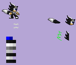 Asura the Hedgewolf in sprite by xxXPrince-AsuraXxx
