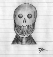 Skull Thing Doodle by THE-R4GE