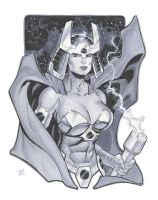 Big Barda con drawing by MichaelDooney